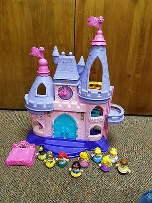 Fisher-Price Little People Disney Princess LOT Musical Dancing Palace Castle
