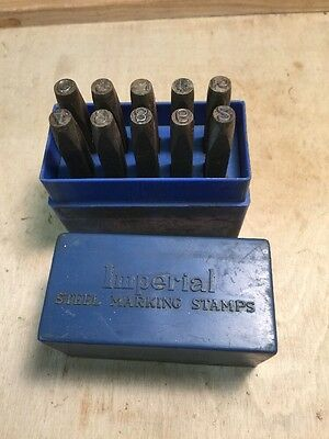 Antique Imperial Steel Marking Punch Stamps
