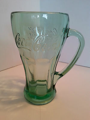 Coca Cola Collectible Libbey Glass With Handle 14Oz Heavy