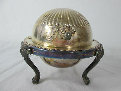 Old Vintage Trade Mark Crown 1883 FB Rogers Silver 273 Caviar Butter Candy Dish
