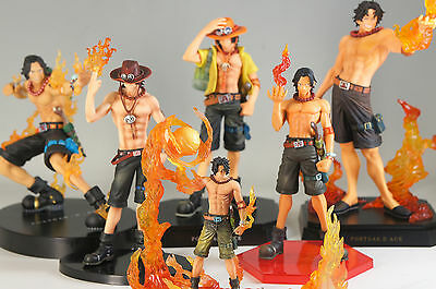 ONE PIECE ACE Figure Set 6pc Free Shipping 686f09