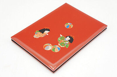 NEW Japan Antique-style Red Lacquered Address Book Free Shipping 700r17