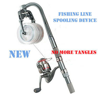 New Fishing Line Spooler System for Spinning & Overhead Reels Fishing Reel Line