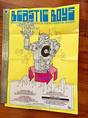 Beastie Boys In The Round 1999 European Tour Hello Nasty Folded Promo Poster