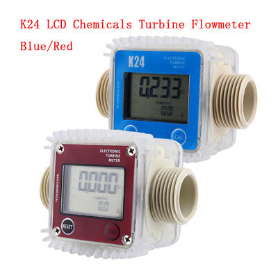 K24 LCD Turbine Digital Diesel Fuel Flow Meter Widely Used for Chemicals Water