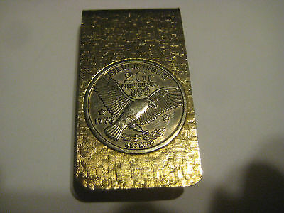 vintage MONEY CLIP Silver Issue coin 2 Gr Fine .999 1776 copy 8528178 goldtone