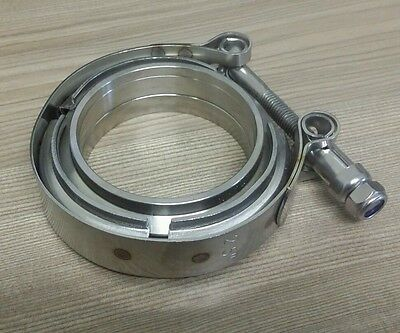 2-1/2 2.5 inch 63mm V-band Vband Clamp + Collars Exhaust joiner Stainless Steel