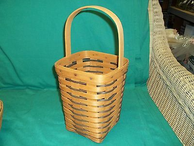 Vintage 1993 Longaberger Heartland Collection Tall Basket with Barn Stamp