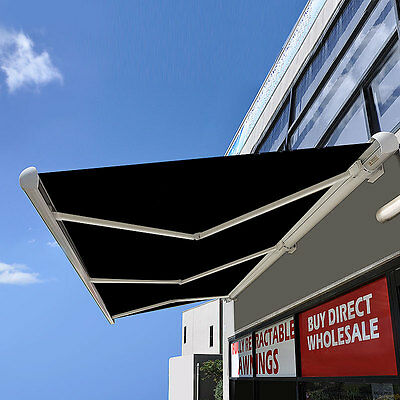 *QLD PICKUP* Full Cassette Motorised Outdoor Folding Awning with hand crank 4/6M