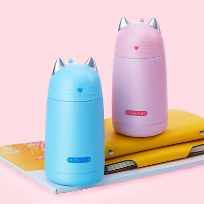 1Pcs Stainless Steel Vacuum Flask Coffee Bottle Thermo Mug Cute Cat Travel Cup