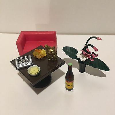 NEW Re-ment Saloon Puchi New In Box Miniature Dollhouse 1/6 Table Plant Bar