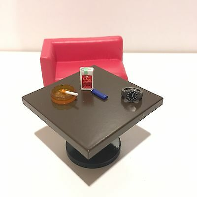 Re-ment Saloon Puchi New In Box Miniature Dollhouse 1/6 Table Cigarette Watch