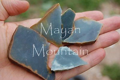 152 G Super Translucent Light Blue Guatemalan Jadeite Jade Rough Mayan Mountain