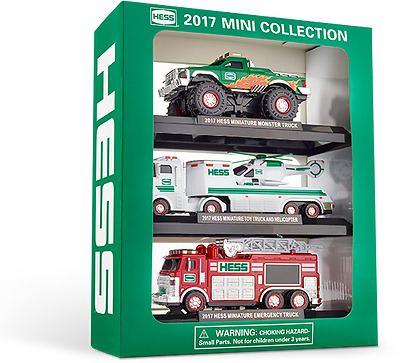 2017 HESS MINI Collection Lmtd Edition sold out FIRE MONSTER TRUCK HELICOPTER