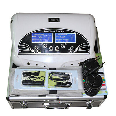 2017 New Dual Ion Detox Ionic Aqua Foot Bath Chi Spa Machine