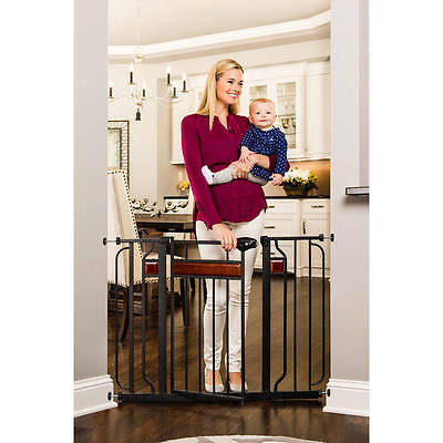Extra Wide Pet & Baby Toddler Child Proof Metal Safety Easy Open Walk Thru Gate