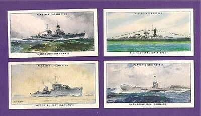 IMPERIAL GERMAN NAVY Kriegsmarine Warships & Submarine 1939 cards GRAF SPEE