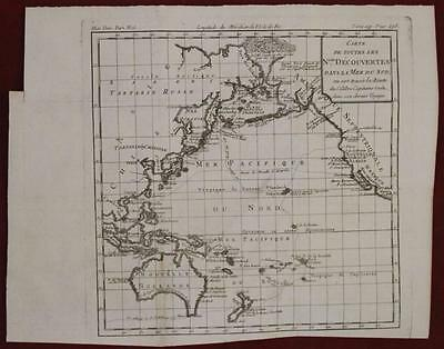 Australia New Zealand Pacific Cook's Travels 1780 Brion De La Tour Antique Map