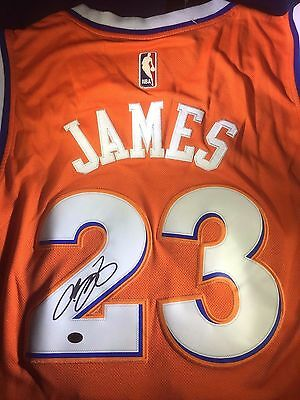 Lebron James - Cleveland Cavaliers - Hand Signed Official Nba Jersey - Full Loa