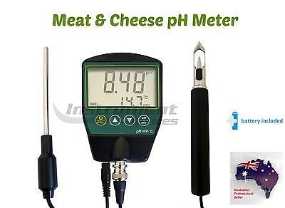 HACCP Food Grade Compliant Meat Cheese Food pH and Temperature Meter (USA Brand)