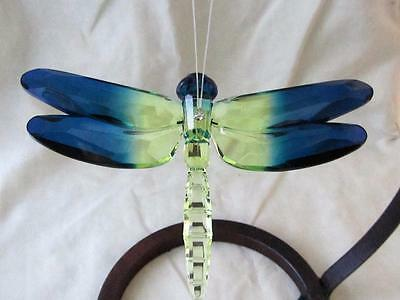 Dragonfly Ganz Crystal Expressions Acrylic Sun Catcher Blue Lime Free Ship