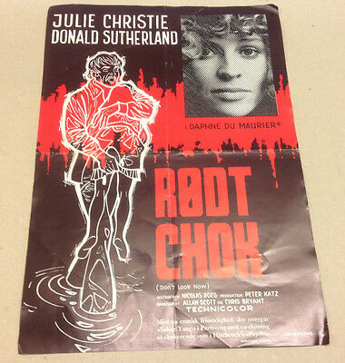 """""""Don't Look Now"""" Sutherland Christie Old 1973 Vtg Danish Movie Press Release Kit"""