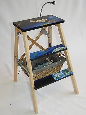 Hand painted Astro Boy multipurpose ladder, bedside table, children's stool/seat