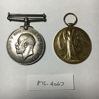 WW1 British War Medal and Victory Medal - Army Service Corps