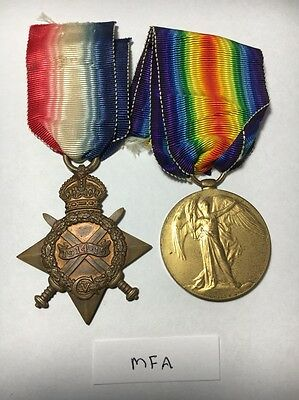 WW1 1914-15 Star and British War Medal - Mercantile Fleet Auxilliary