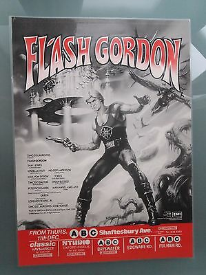 FLASH GORDON Poster Authentic Laminated 1980 London Underground 1sheet