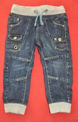 Lily & Dan Size 2 - 18-24 Months Boys Lined Winter Jeans Elastic Waist & Cuffs