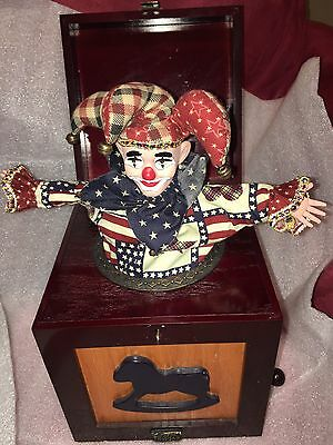 Thomas Pacconi Classics 1900-2000 JACK IN THE BOX Wood W/Porcelain Jester Works!