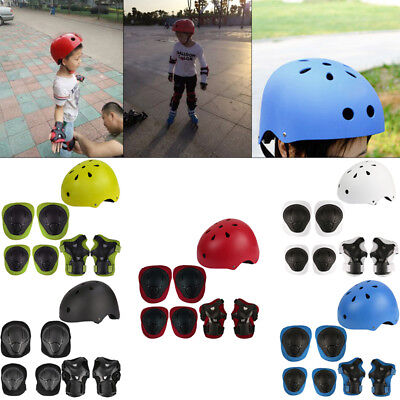 7PC Children Wrist Elbow Knee Safety Gear Pads Kids Sport Protective Guard skate