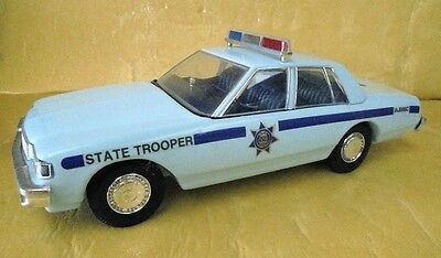 Blue Chevrolet Sedan Police State Trooper Jim Beam Decanter Made In Usa In 1992