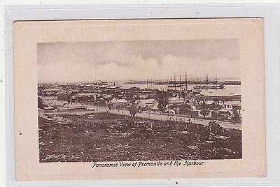 VINTAGE POSTCARD VIEW OF  FREMANTLE AND THE HARBOUR  WESTERN AUSTRALIA  1900s