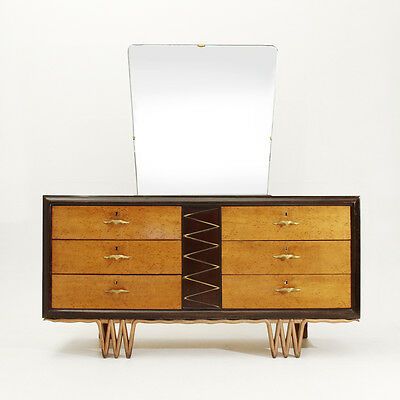 Cassettiera Art decò anni 40, mid century chest of drawers, rationalist, Buffa