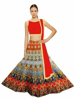 New Indian Pakistani Ethnic Bollywood Lengha Designer Lengha Choli SV-1