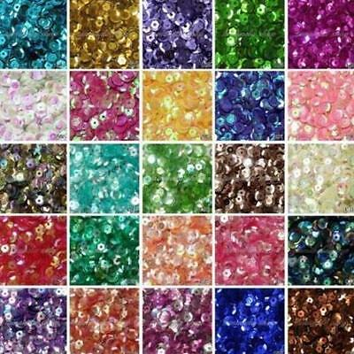 HOT DIY 2000 pcs Oval Round Cup Sequins Paillettes Loose AB 6mm Wedding Craft