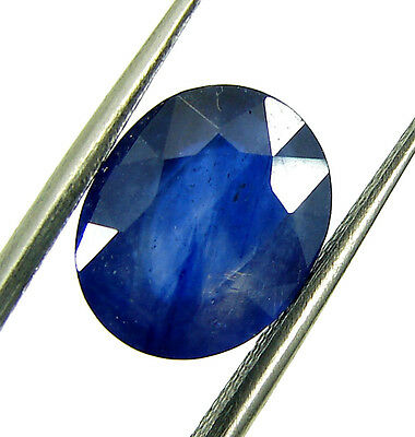 3.90 Ct Certified Natural Blue Sapphire / Neelam Oval Loose Stone Astro - 108310