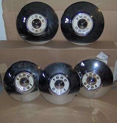 1956 Ford HUBCAPS 1950 1951 1952 1953 1954 1955 1957 wheel covers thunderbird