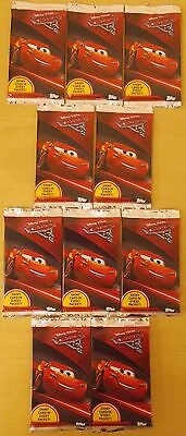 Disney Pixar Cars 3 ~ Topps Trading Card Collection ~ 10 x Sealed Packs 80 Cards