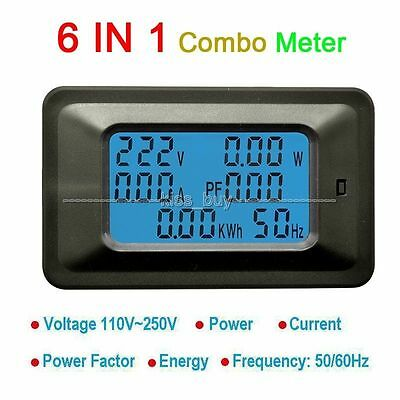 AC Multifuctional Meter Voltage 110V 220V Current 20A Power Factor KWH Frequency