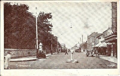 Collectable early postcard Gravesend, Kent showing the Bus Garage & Super Cinema