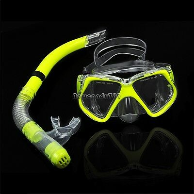 New  Fluorescence Yellow  Scuba Diving Equipment Dive Mask NC8901