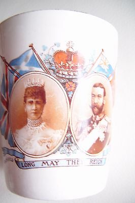 George V Coronation. Shaf.tesbury Commemorative Beaker 1911