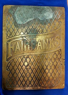 FAIRBANKS Bronze Scale Platform Plaque Sign - Very Heavy