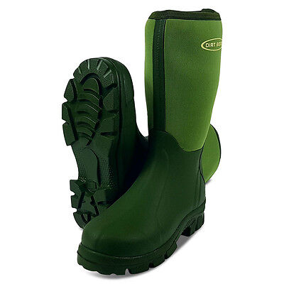 Dirt Boot® Neoprene Wellington Muck Field Fishing Boots® Wellies Green