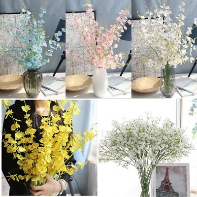 Fake Silk Gypsophila Baby's Breath Flower Plant Home Wedding Bouquet Party Decor