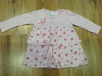 Baby Girls Long Sleeved Pink Dress. M & And Co. 3 6 Months. Worn Once.