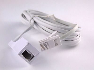 5M Adsl Rj11 Broadband Extension Cable Male To Female